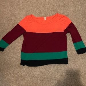 Colorblock JCrew long sleeve